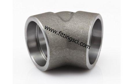 DİRSEK 45 Derece Astm A105 Dövme Karbon Çelik Soket Kaynaklı