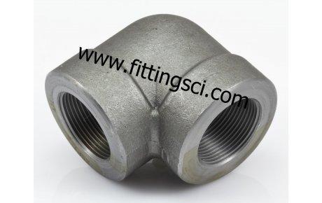 DİRSEK 90 Derece Astm A105 Dövme Karbon Çelik Dişli